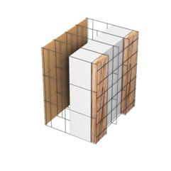 <b>Performance thermique : </b>R>4,75 U<0,21<br> <b>Parois intérieures:</b><br> Fibro Ciment<br> <b>Voile béton :</b><br> de 15 cm, 20cm<br>   <b>Parois extérieures: </b><br>17cm Fibro Ciment + Tasseaux 3cm