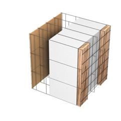<b>Performance thermique : </b>R>6,07 U<0,17<br> <b>Parois intérieures:</b><br> Fibro Ciment<br> <b>Voile béton :</b><br> de 15 cm, 20cm<br>   <b>Parois extérieures: </b><br>22cm Fibro Ciment + Tasseaux 3cm