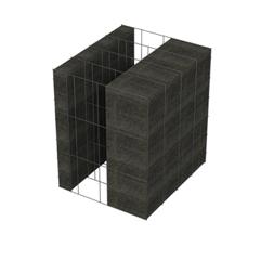<b>Performance thermique : </b>R>5,05 U<0,20<br> <b>Parois intérieures:</b><br>5cm Verre Cellulaire<br> <b>Voile béton :</b><br> de 15 cm, 20cm<br>   <b>Parois extérieures: </b><br>15cm Verre Cellulaire