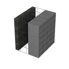<b>Performance thermique : </b>R>5,82 U<0,17<br> <b>Parois intérieures:</b><br>5cm Verre Cellulaire<br> <b>Voile béton :</b><br> de 15 cm, 20cm<br>   <b>Parois extérieures: </b><br>15cm PSE graphité
