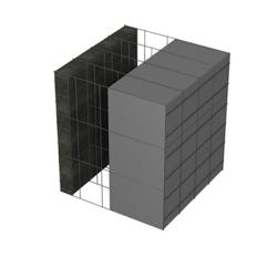 <b>Performance thermique : </b>R>7,29 U<0,14<br> <b>Parois intérieures:</b><br>5cm Verre Cellulaire<br> <b>Voile béton :</b><br> de 15 cm, 20cm<br>   <b>Parois extérieures: </b><br>20cm PSE graphité