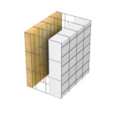 <b>Performance thermique : </b>R>4,11 U<0,24<br> <b>Parois intérieures:</b><br> 5cm Laine Minérale<br> <b>Voile béton :</b><br> de 15 cm, 20cm<br>   <b>Parois extérieures: </b><br>10cm PSE blanc