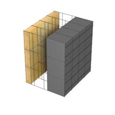 <b>Performance thermique : </b>R>5,88 U<0,17<br> <b>Parois intérieures:</b><br> 5cm Laine Minérale<br> <b>Voile béton :</b><br> de 15 cm, 20cm<br>   <b>Parois extérieures: </b><br>15cm PSE graphité