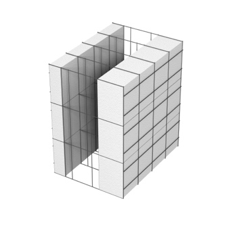 <b>Performance thermique : </b>R>4,14 U<0,24<br> <b>Parois intérieures:</b><br> 5cm PSE blanc<br> <b>Voile béton :</b><br> de 15 cm, 20cm<br>   <b>Parois extérieures: </b><br>10cm PSE blanc
