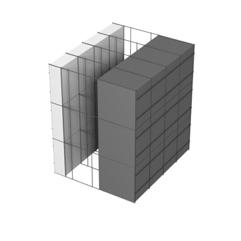 <b>Performance thermique : </b>R>5,91 U<0,17<br> <b>Parois intérieures:</b><br> 5cm PSE blanc<br> <b>Voile béton :</b><br> de 15 cm, 20cm<br>   <b>Parois extérieures: </b><br>15cm PSE graphité