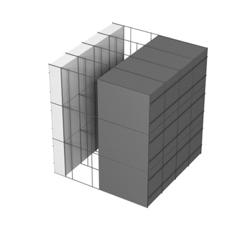 <b>Performance thermique : </b>R>7,38 U<0,14<br> <b>Parois intérieures:</b><br> 5cm PSE blanc<br> <b>Voile béton :</b><br> de 15 cm, 20cm<br>   <b>Parois extérieures: </b><br>20cm PSE graphité