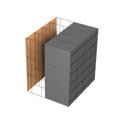 <b>Performance thermique : </b>R>6,13 U<0,16<br> <b>Parois intérieures:</b><br> Fibro Ciment<br> <b>Voile béton :</b><br> de 15 cm, 20cm<br>   <b>Parois extérieures: </b><br>20cm PSE graphité