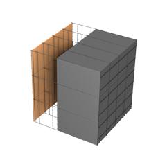 <b>Performance thermique : </b>R>7,60 U<0,13<br> <b>Parois intérieures:</b><br> Fibro Ciment<br> <b>Voile béton :</b><br> de 15 cm, 20cm<br>   <b>Parois extérieures: </b><br>25cm PSE graphité