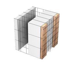 <b>Performance thermique : </b>R>6,00 U<0,17<br> <b>Parois intérieures:</b><br> 5cm PSE blanc<br> <b>Voile béton :</b><br> de 15 cm, 20cm<br>   <b>Parois extérieures: </b><br>17cm PSE blanc + Tasseaux 3cm